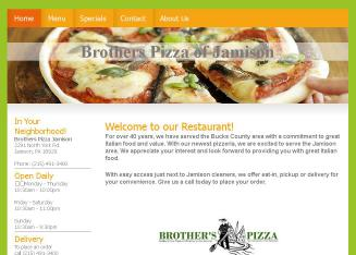 Brother%27s+Pizza Website