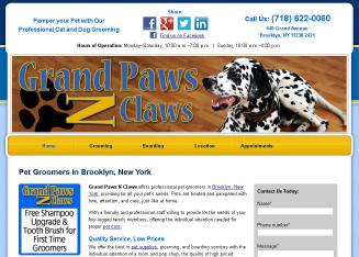Grand+Paws+N+Claws Website