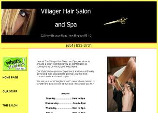 Villager+Beauty+Salon Website