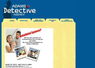 Adams+Detective+Agency Website