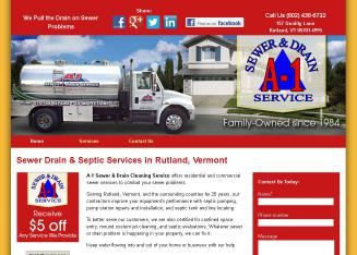 A-1+Sewer+%26+Drain+Cleaning+Service Website