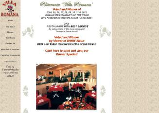 Call Villa Romana Italian Restaurant Today