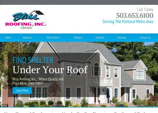 Bliss+Roofing+Inc. Website
