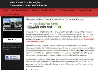 West+Coast+Van+Rental Website