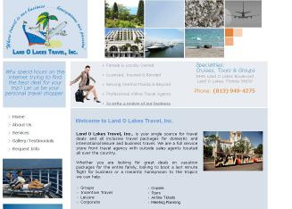 Land+O%27+Lakes+Travel Website