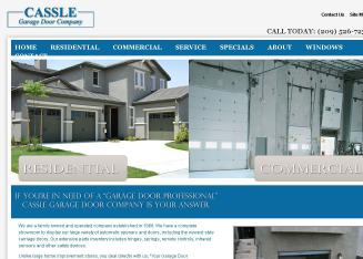 Cassle+Garage+Door+Co. Website