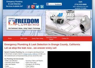 Dymek%27s+Freedom+Plumbing+Leak+Detection+%26+Repairs Website