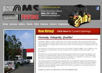 AMS+Paving Website