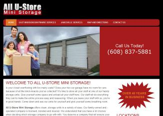 All+U-Store+Mini+Storage Website