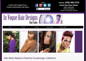 In+Vogue+Hair+Designs Website