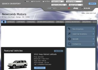 Newcomb+Motors+Inc Website
