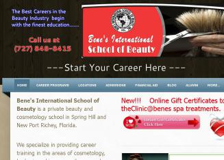 Bene%27s+International+School+of+Beauty Website