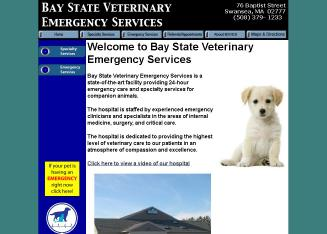 Bay+State+Veterinary+Emergency+Services Website
