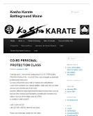 Kosho+Karate+Studio Website