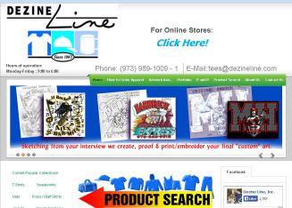 Dezine+Line+Screen+Printing+%26+Embroidery Website