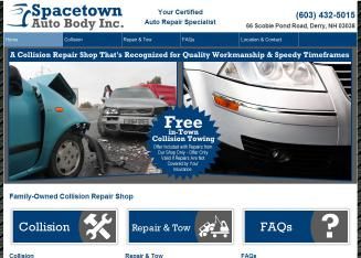 Spacetown+Auto+Body+Inc Website