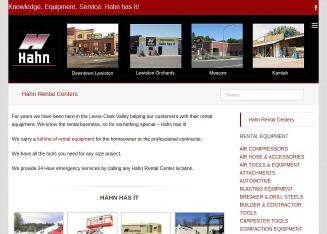 Hahn+Rental+Center Website