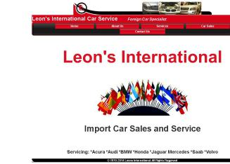Leon%27s+International+Car+Service Website