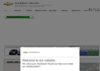 Don+Bulluck+Chevrolet Website