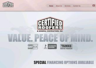Certified+Roofers Website