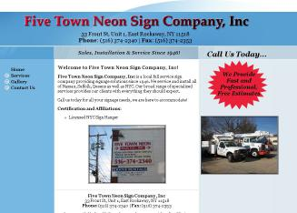 Five Town Neon Sign Company