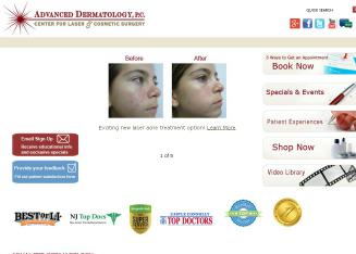 Advanced+Dermatology+PC+Center+for+Laser+and+Cosme Website
