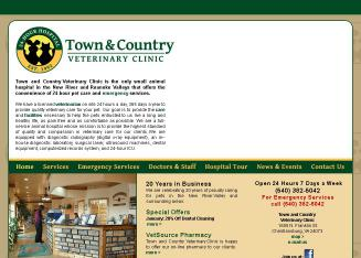 Town+%26+Country+Veterinary+Clinic Website