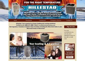 Hillestad+Heating+%26+Cooling+Systems Website
