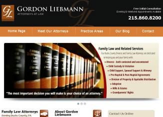 Gordon+Liebmann+Attorneys+At+Law Website