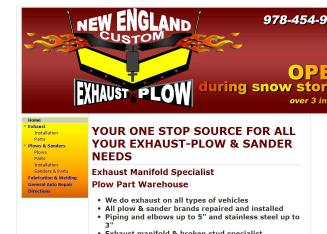 New+England+Custom+Exhaust+%26+Plow+Inc Website