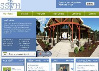 South+Shore+Vet+Hospital Website