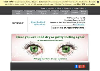 Healthy+Eye+Center+Family+Optometry Website