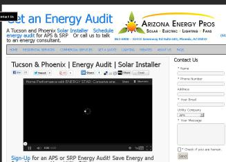 Arizona+Energy+Pros%2C+Inc. Website