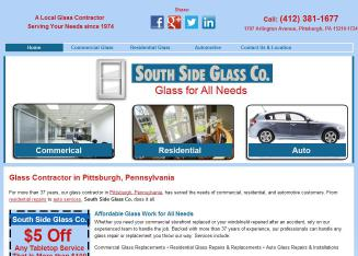 South+Side+Glass+Co Website