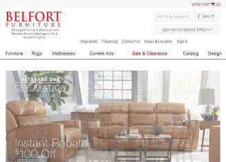 Belfort+Furniture Website