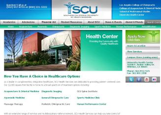 University+Health+Center Website