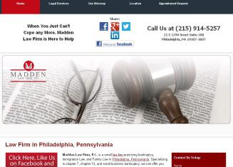 Madden+Law+Firm+PC Website