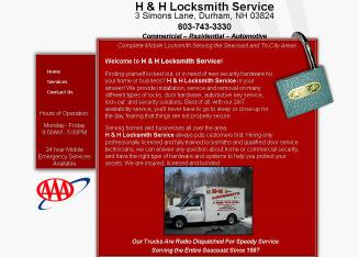 H+%26+H+Locksmith+Service Website