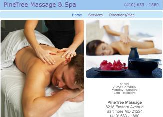 Pinetree+Massage Website