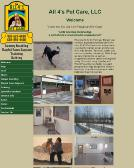 All+4%27S+Pet+Care Website