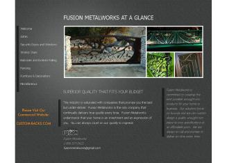 Fusion+Metalworks Website