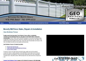 Geo+Bros+Fence Website