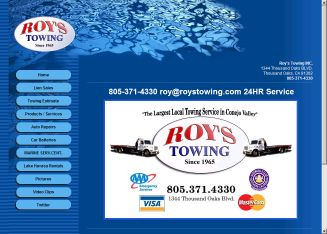 Roy%27s+Towing+Inc Website