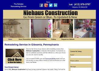 Niehaus+Construction Website