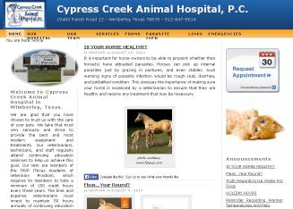 Cypress+Creek+Animal+Hospital Website