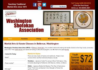 Washington+Shotokan+Association Website
