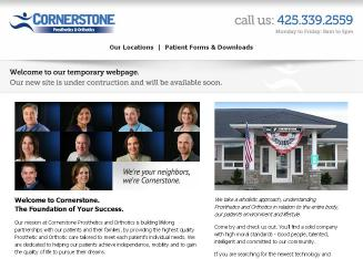 Cornerstone+Prosthetics+%26+Orthotics+Inc Website