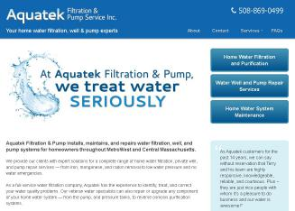 Aquatek++Filtration+%26+Pump+Service+Inc Website