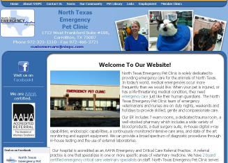 North+Texas+Emergency+Pet+Clinic Website