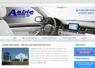 Aable+Auto+Parts Website